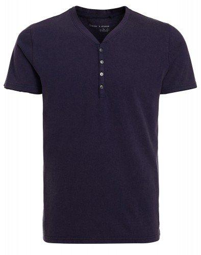 FELIPE: Herren T-Shirt mit Knopfleiste