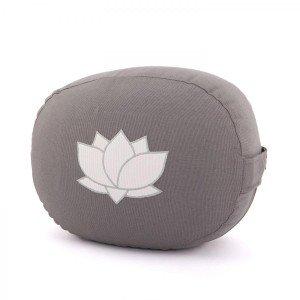 Meditationskissen OVAL mit Lotus Stickerei
