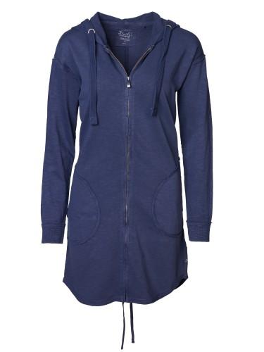 Damen_Sweatjacke_seitlich aufgesetzte Taschen_Ellbogen-patches_nachhaltige_mode_online_kaufen_midnight_KONSTANZE