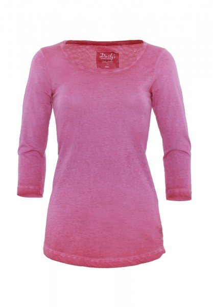 Longsleeve_used wash Optik_Damen_Rundhalsausschnitt_ADANA CPD_170240_pink
