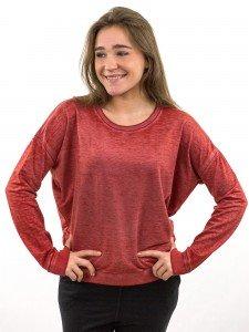 Damen Sweatshirt Rippenabschluss am Saum nachhaltige mode online kaufen JENNA