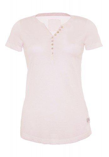 T-Shirt_Knopfleiste_used wash optik_Damen_Rundhalsausschnitt_ALESSIA CPD_170239_rosa