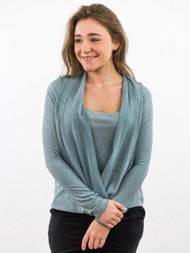 Damen Blusenshirt Wickeloptik Gummizug nachhaltige mode online kaufen HEYLIE