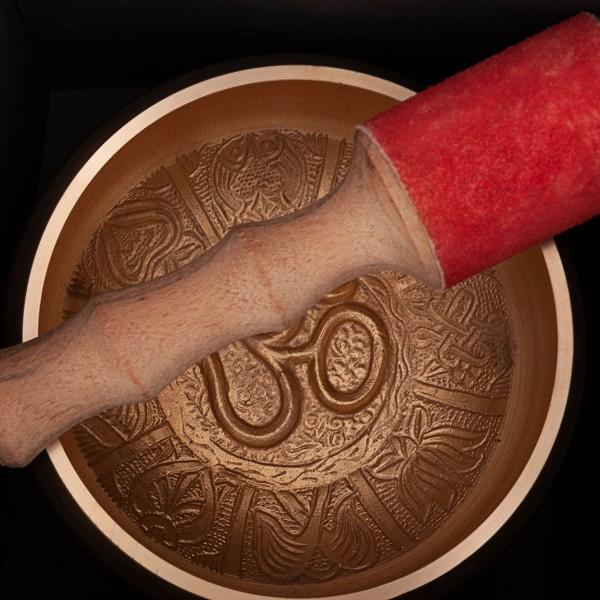 """Indische Klangschale """"Singing Bowl"""" mit OM Design von bodhi in Geschenkbox, ca. 1400 g, Ø 15 cm"""