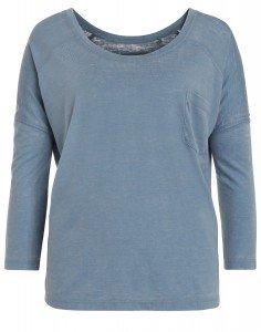GESINA: ¾-Arm Shirt mit U-Boot-Ausschnitt