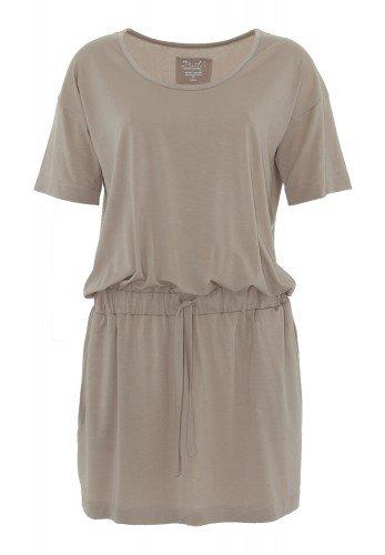 IKEN: T-Shirt Kleid mit Taillenband