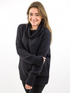 Damen Strickpullover Rollkragen Raglannähte Rippenbündchen nachhaltige mode online kaufen KALI