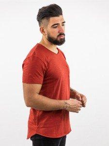 JADEN: T-Shirt mit Leinenstruktur aus Biobaumwolle