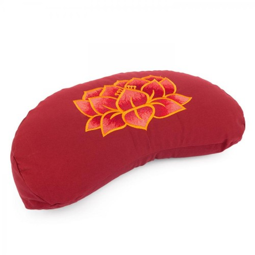 Meditationskissen YOGI MOND ECO   mit Stickerei: Lotus Blüte