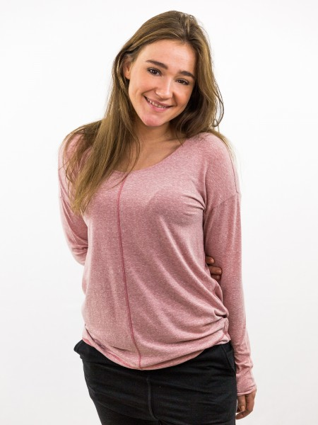 Damen Longsleeve Oversize Teilungsnähte überschnittene Schultern nachhaltige mode online kaufen KACY