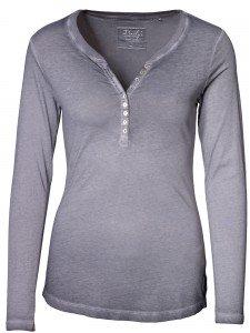 Damen Longsleeve Rundhalsausschnitt Biobaumwolle Knopfleiste nachhaltige mode online kaufen BELLA