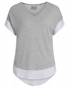 GAURI: T-Shirt im Farb- und Materialmix