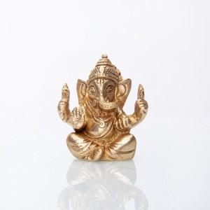Ganesha Statue, Messing ca. 7 cm