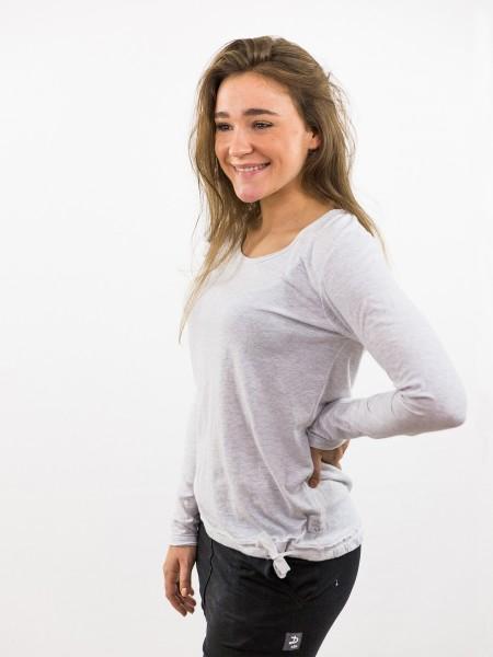 Damen Longsleeve Rundhalsausschnitt Bändchen am Saum nachhaltige mode online kaufen KATHARINA
