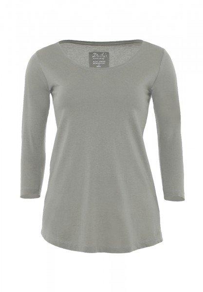 Damen ¾ - Arm Shirt Rundhalsausschnitt Biobaumwolle nachhaltige mode online kaufen_ADANA_loft