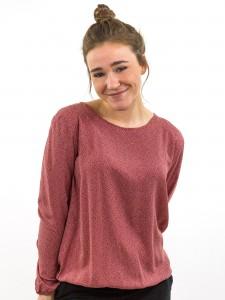 Damen Bluse gemustert gepunktet rot KARMA