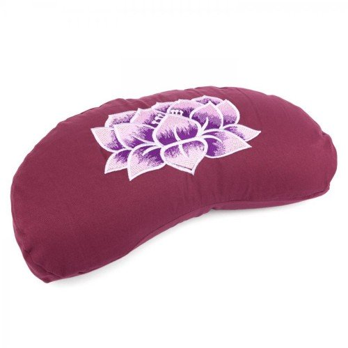 Meditationskissen YOGI MOND ECO | mit Stickerei: Lotus Blüte