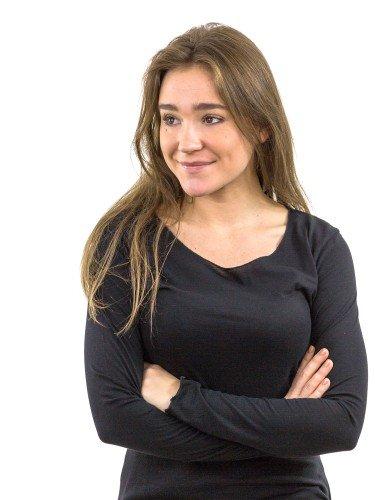 Damen Longsleeve Rundhalsausschnitt Biobaumwolle nachhaltige mode online kaufen KEILA
