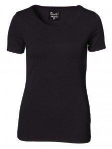 Damen T-Shirt Rundhalsausschnitt geklebte Kanten nachhaltige mode online kaufen KAYCEE
