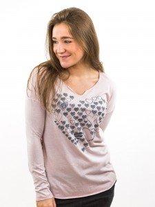 Damen Longsleeve Rundhalsausschnitt Biobaumwolle Oversize Teilungsnaht nachhaltige mode online kaufen KAREN