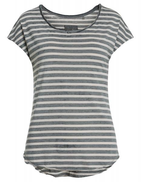 GANINA: T-Shirt mit Streifen
