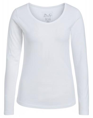Damen Longsleeve Rundhalsausschnitt Biobaumwolle_weiß_nachhaltige mode online kaufen ANN