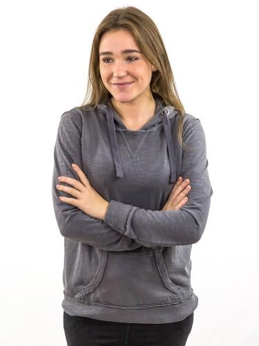 Damen_Hoodie_Kängurutasche_Rippenabschluss an Saum und Ärmeln_nachhaltige_mode_online_kaufen_loft_KLARA