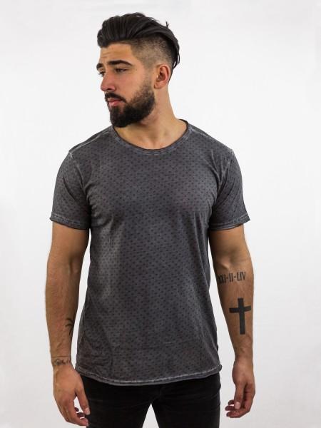 KURT: Softes T-Shirt mit allover print