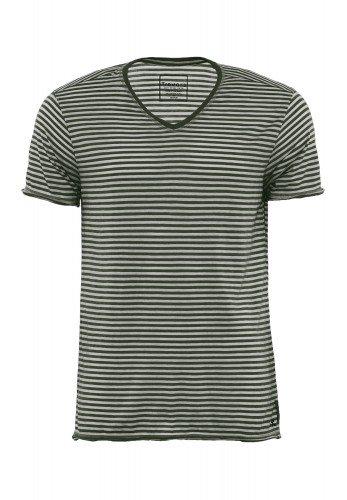 T-Shirt_Streifen_V-Ausschnitt_ISMAEL_170308_Hunter_Green