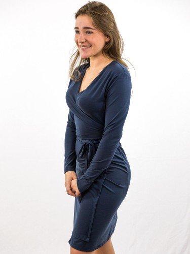 Damen_Wickelkleid_V-Ausschnitt_nachhaltige_mode_online_kaufen_midnight_KERRIE