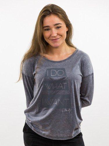 Damen Longsleeve Oversize überschnittene Schultern Rundhalsausschnitt_grau_ nachhaltige mode online kaufen KÄTHE
