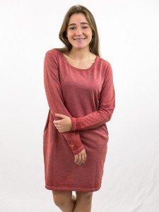 Damen_Kleid_seitliche Eingriffstaschen_Rundhalsausschnitt_nachhaltige_mode_online_kaufen_HEIKE