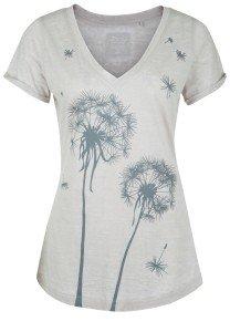 Damen_T-Shirt_ V-Ausschnitt_Motiv-Print_GEORGINA_nachhaltige_mode_online_kaufen_Dailys_170233_Farbe sand