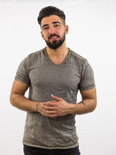 ISMAEL: T-Shirt im Streifen-Look