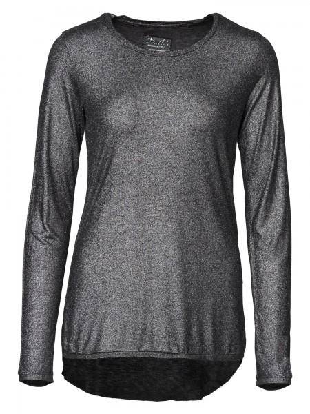 Damen Blusenshirt Rundhalsausschnitt seitliche Schlitze nachhaltige mode online kaufen  KYANA