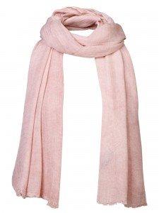 Damen Schal rosa Fransen nachhaltige mode online kaufen KLOTHILDE
