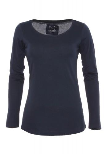 Damen Longsleeve Rundhalsausschnitt Biobaumwolle_blau_nachhaltige mode online kaufen ANN