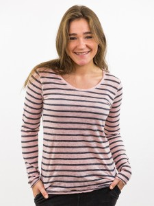 Damen Longsleeve Streifen Rundhalsausschnitt nachhaltige mode online kaufen JUDY