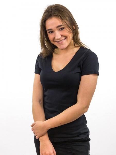Damen T-Shirt V-Ausschnitt 1/2 Arm  Biobaumwolle_nachhaltige mode online kaufen ALLY