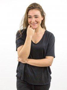 Damen T-Shirt V-Ausschnitt Oversize nachhaltige mode online kaufen KEIRA