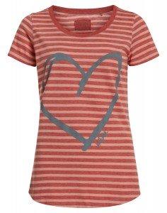 GERLANDA: Streifen T-Shirt mit Herzprint