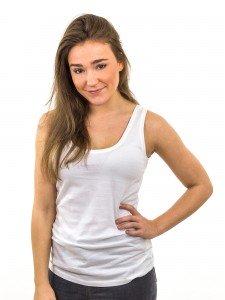 Damen Top Rundhalsausschnitt Rückendekolleté Biobaumwolle nachhaltige Mode online kaufen ALESSIA
