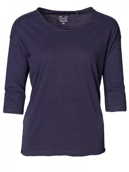 Damen ¾ - Arm Shirt Rundhalsausschnitt Oversize Teilungsnaht nachhaltige mode online kaufen KORI