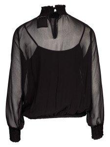 KETTY: Damen Blusenshirt mit hohem Kragen