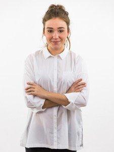 Damen Bluse Oversize Blusenkragen Brusttasche nachhaltige mode online kaufen KAMI