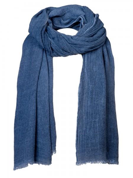 Damen Schal blau Fransen nachhaltige mode online kaufen  KLOTHILDE